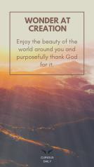 PERSONAL WORSHIP: WONDER AT CREATION
