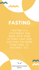 PERSONAL WORSHIP: FASTING