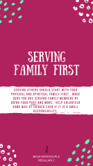 SERVE OTHERS: FAMILY FIRST