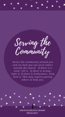 SERVE OTHERS: SERVING THE COMMUNITY